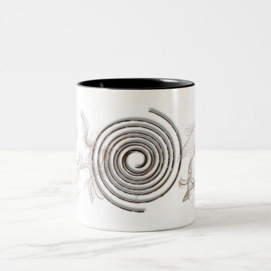 Drinkware espiral taza de café de dos colores