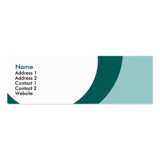 drip drops : 2-sided : S : teals Double-Sided Mini Business Cards (Pack Of 20)