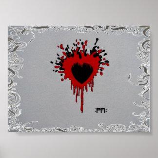 drip heart poster
