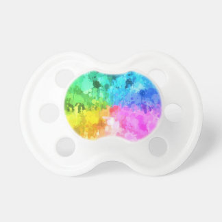 drip paint color of chakra by healinglove pacifier