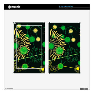 Drip Painting Kindle Fire Skin