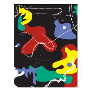 Drip Painting Postcard