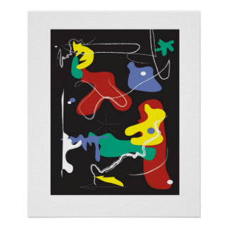 Drip Painting Poster