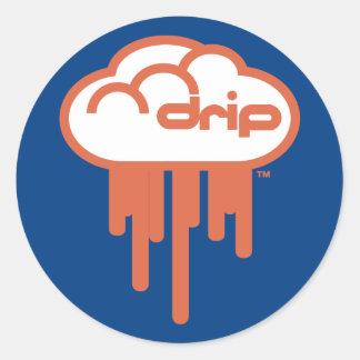 Driplogo in Blue and Orange Classic Round Sticker