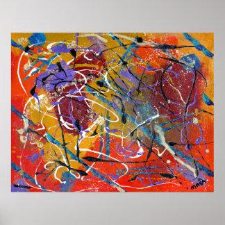Drippal Play Abstract Art Poster