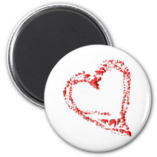 dripped heart 2 inch round magnet