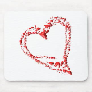 dripped heart mouse pad