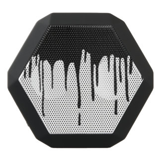 Dripping Black Paint Portable Speakers