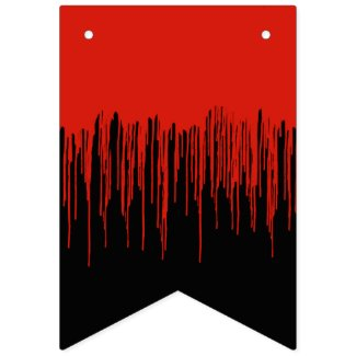 Dripping Blood Creepy Halloween Bunting Flags