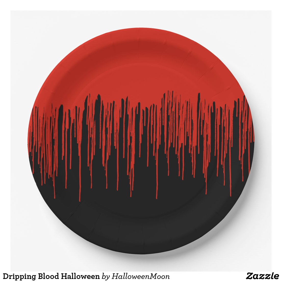 Dripping Blood Halloween Paper Plate
