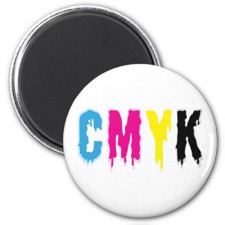 Dripping CMYK Fridge Magnets