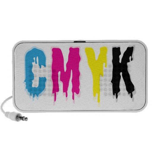 Dripping CMYK Travel Speakers