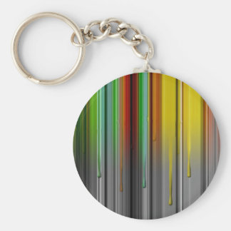Dripping Color Basic Round Button Keychain