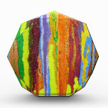 Dripping Colors Abstract Art Design Gifts Award