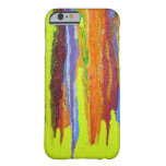 Dripping Colors Abstract Art Design Gifts Barely There iPhone 6 Case