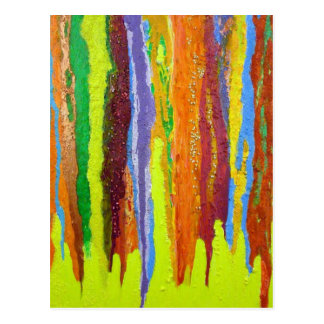 Dripping Colors Abstract Art Design Gifts Postcard