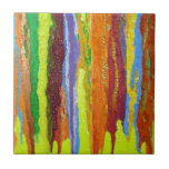 Dripping Colors Abstract Art Design Gifts Ceramic Tiles