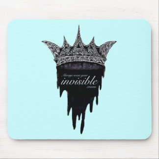 Dripping Crown with Text - v2 Mouse Pad