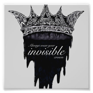 Dripping Crown with Text - v2 Photo Print