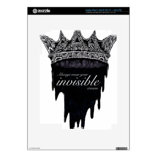 Dripping Crown with Text - v2 iPad 3 Skin
