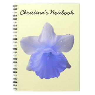 Dripping Daffodil Blue Customizable Notebook