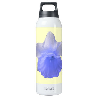 Dripping Daffodil Blue Insulated Water Bottle