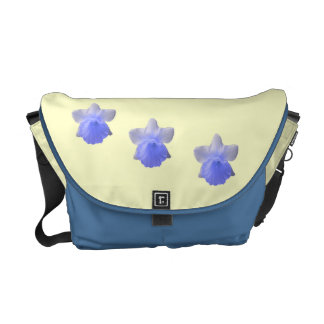 Dripping Daffodil Blue Messenger Bag