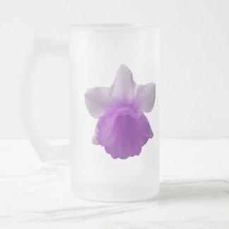 Dripping Daffodil Purple Frosted Glass Mug