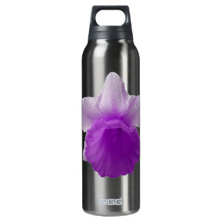 Dripping Daffodil Purple Thermos Water Bottle
