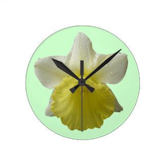 Dripping Daffodil Wall Clock