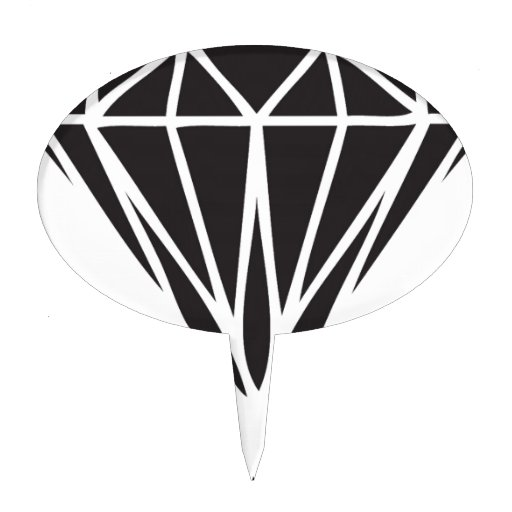Drippin Diamond: Dripping Diamond Dope Swag Gear Cake Toppers