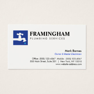 Dripping Faucet Plumbing Plumbers Logo Business Card