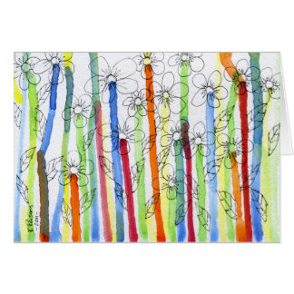 Dripping Flowers Greeting Card