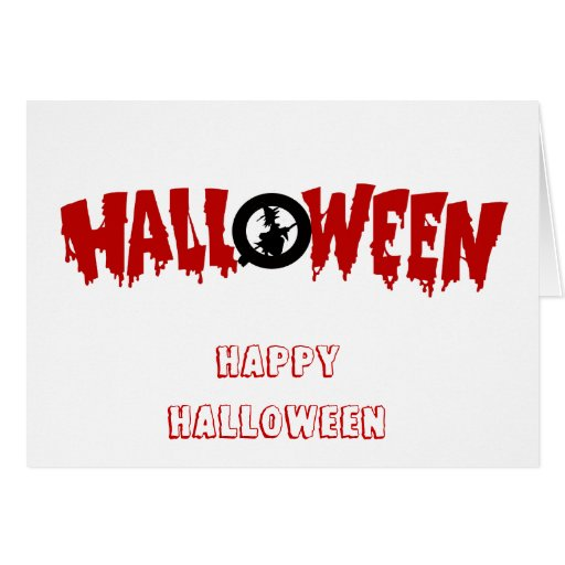 dripping halloween text-greeting card