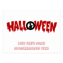 dripping halloween text-party invite postcard