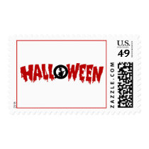 dripping halloween text-postage postage