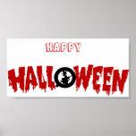 dripping halloween text-poster