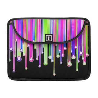 Dripping Icing - Abstract Art on Black Sleeves For MacBooks