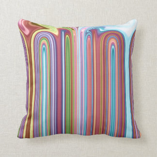 Dripping lines throw pillow
