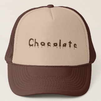 Dripping Melting Chocolate Word Hats