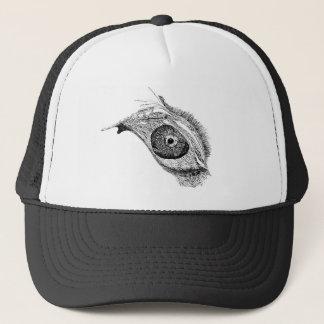 dripping melting eye trucker hat