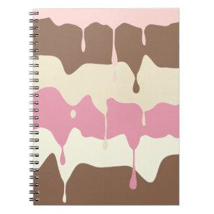 Dripping Neapolitan Ice Cream Notebook