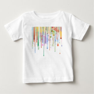 Dripping Paint Abstract Design Baby T-Shirt