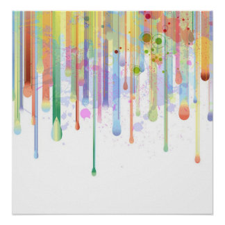 Dripping Paint Abstract Design Poster