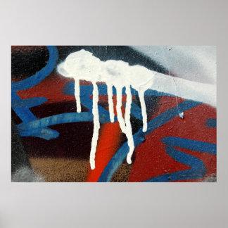 dripping paint graffiti poster