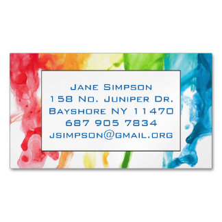 dripping paint magnetic business card