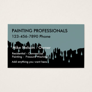 Dripping Paint Painter Theme Business Card
