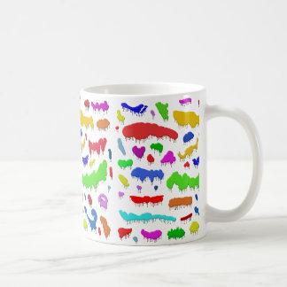Dripping Paint Splodges Coffee Mug