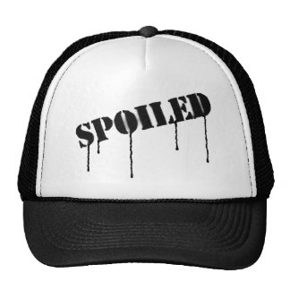 "Dripping paint ""spoiled"" cap trucker hat"
