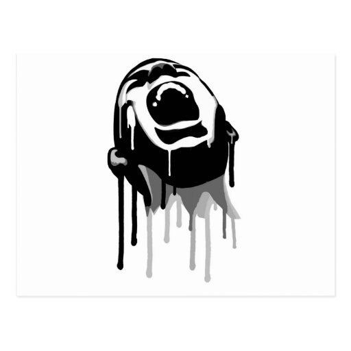 Dripping Scream Postcard